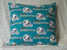 2 Throw Pillow Covers* Miami Dolphins Pillow Covers* Football* Handmade
