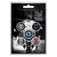 Official Merch 5-BADGE PACK Mod Metal Button Pin Badges THE WHO Quadrophenia