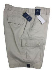 Roundtree & Yorke Mens Cargo Shorts String 42 Classic Fit Cotton NEW