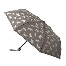Grey Cat Folding Design Umbrella - Manual Mini Maxi Clifton