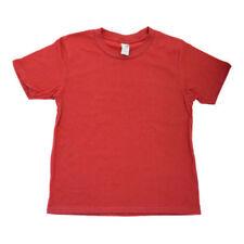 Vêtements rouges coton mélangé à col rond pour fille de 2 à 16 ans