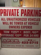 VINTAGE A.P.O.W. TOWING & RECOVERY SIGN, 711 SAW MILL RIVER RD YONKERS, NY