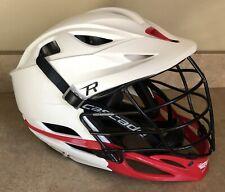 Cascade R Lacrosse Helment Excellent White Red Genuine