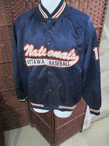 Vintage Ottawa Nationals Baseball Satin Jacket Size 48