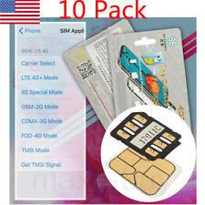 Universal Unlock Turbo Sim Card For iPhone X 8 7 6S 6 Plus 5S 5 Lte-4G iOs10 11