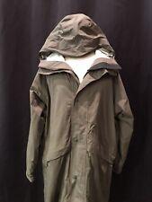 L.L. Bean Men's Raincoat-Sz.M/Long-Gortex-Hooded-Nylon-Green