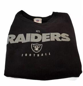Vtg 90s The Oakland Raiders Nfl White Tag Usa Crewneck Sweater Mens L
