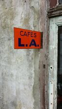 Plaque émaillée publicitaire CAFES L.A. - Los Angeles - Décoration cuisine - 59