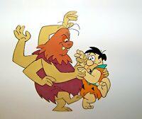 Hanna Barbera Original Animation Production Cel Fred Flintstone Framed COA