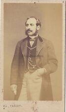 Etienne Carjat Paris Portrait d'un homme Photo Cdv Vintage albumine