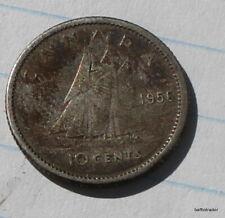 Canada 1956  Canadian  Dime 10 Cent coin Elizabeth II
