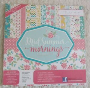 Tonic Studios-Mid Summer Mornings Paper Pad- 8 x 8 16 Sheets 160gsm