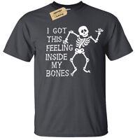 Kids Boys Girls I GOT THIS FEELING INSIDE MY BONES T-Shirt funny skeleton