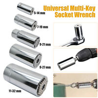 Multi-Einsatz 1/4'', 3/8'', 1/2'' Universal Nuss Multischlüssel Steckschlüssel