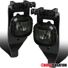 Ford 05-07 F250/350 Super Duty Smoke Front Fog Lights Bumper Lamp Pair+H10 Bulbs