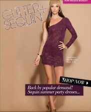 GUESS by Marciano Aria Purple Glitter One-Sleeve Party Dress  .NWT Sz. L