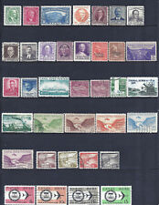 36 DIFFERENT CANAL ZONE STAMPS LOT - EXCELLENT CAT=$12.75