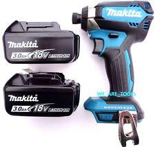 "New Makita Brushless 18V XDT13 1/4"" Impact Driver, (2) BL1830 Batteries 18 Volt"
