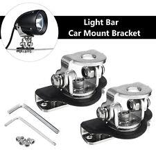 4x Car Universal A Pillar Hood Led Work Light bar Base Mount Bracket lamp Holder