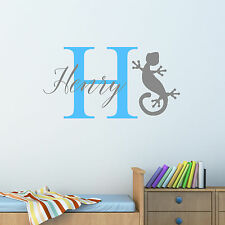 Personalizado Geco Lagarto Adhesivo de pared Chicos Niños Dormitorio Infantil