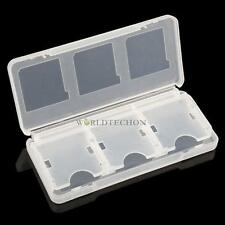 Clear 6 in 1 Game Card Storage Case Box for 3DS, DS, DS Lite, DSi, XL, LL, NDS
