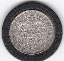 Sharp   1897    Queen  Victoria  Sterling  Silver  Shilling  British Coin