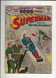 SUPERMAN #107 1956 DC CLASSIC RIP VAN SUPERMAN STORY GD