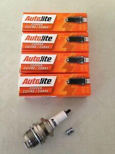 FOUR(4) Autolite 3076 Spark Plug SET fits Hit/Miss Tractor Vintage Car/Truck