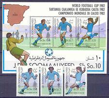 El fútbol WM 1982, soccer-somalia - 315-317, bl.12 ** mnh