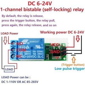 DC 6V 9V 12V 24V Flip-Flop Latch Relay Switch Module for Arduino Smart home car