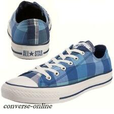 Men Womens CONVERSE All Star BIG PLAID OX BLUE WHITE LO Trainers Shoes SIZE UK 7
