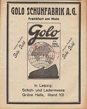 FRANKFURT/M., Werbung 1925, GOLO Schuh-Fabrik AG