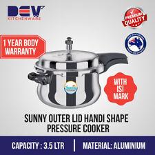3.5 Liters Sunny Outer Lid handi shape 3.5 Ltr Aluminium Pressure Cooker 3.5 L