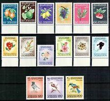 Jordan 1969 1970, Mi#705-792, Sc#576-590, fruits, flowers, birds, COMPLETE, MNH!