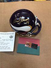 Brad Johnson Signed Minnesota Vikings Mini Helmet UDA Authentication