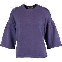 ERIC BOMPARD Ladies Luxurious Purple Cashmere Jumper - size Large - rrp £230