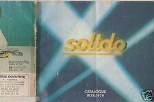 CATALOGUE SOLIDO 1978-1979 COMPETITION TOURISME TONERGAM MILITAIRE AGE D'OR a