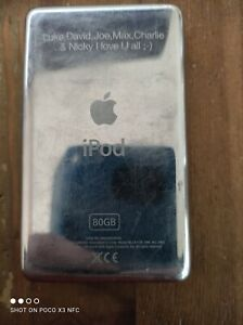 Apple Ipod Classic 5th Generation 80GB fully working hardly used rear engraving