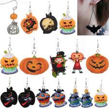 1 Pair Halloween Party Pumpkin Ghost Ear Stud Dangle Hoop Drop Earrings Jewelry