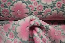 Fleece , Wellnessfleece 0,25 x 1,50  Blume grau/rosa