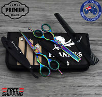 """Franky Pro 5.5"""" Barber Hair Cutting Thinning Scissors Shears Hairdressing SET"""