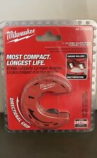 """New listing Milwaukee 1"""" Close Quarters Tubing Cutter Chrome Rollers 48-22-4262 (B1)"""