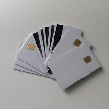 10X CSF Blank Inkjet Sle4428 Chip Card With 3 Track Black HI-CO Magnetic Stripe