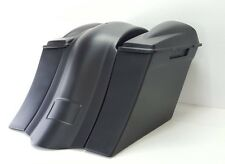 """09-13 Harley 6"""" Saddlebags Overlay Fender 6.5 #2 Lids No Exhaust Cutout"""