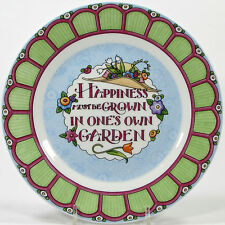 """Mary Engelbreit 2001 At Home With 8"""" Dessert Plate Happiness Grown Garden"""