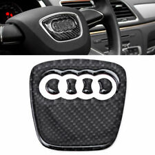 Carbon Fiber Steering Wheel Badge Emblem Sticker Decal For Audi A4 S4 RS A5 Q5