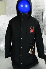 New Men's SPYDER Coach's Insulated Jacket Size S 791623 Black HydroWEB $500