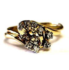 14k yellow gold .26ct diamond semi mount engagement ring wrap band 4.9g vintage