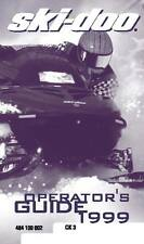 Ski-Doo owners manual book 1999 Grand Touring 700 & Grand Touring SE
