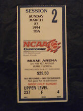 1994 NCAA Men's Basketball East Regional Final Boston College vs Florida Ticket